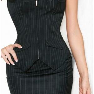Corset Mini Skirt  G-String Suit