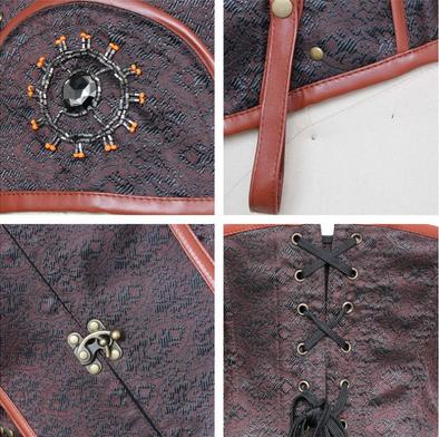 Victorian Steel Boned Steampunk Corset