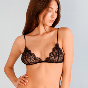 Lace Bra Top Wireless Cup