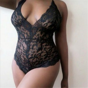2017 New Sexy Women Lace Deep V Neck Erotic Backless Sexy, Erotic