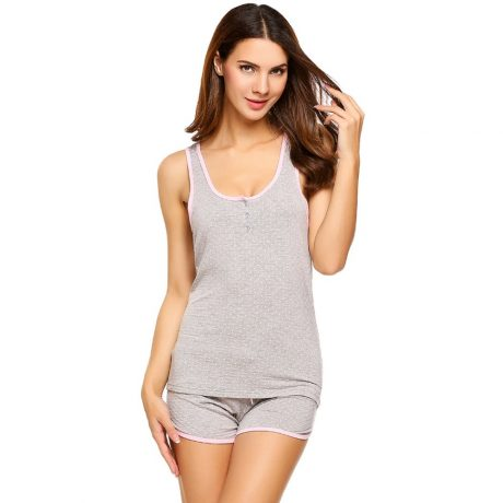Women's Short Pajamas Tank and Camisole Set 2