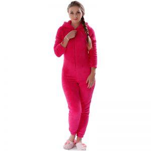 Winter Warm Pajamas, Women's Sleepwear Fleece Pajamas Set, Lounge Hooded Pajamas