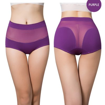 Women's Cotton Underwear Panties, Girls, Sexy Lace Briefs, Hollow Out, High-Rise Ladies Lingerie