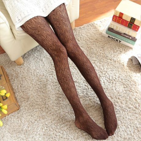 Summer Women Fishnet Tights Love Wave Sexy Female Pantyhose Stockings Hollow Out Silk Stockings For Girl Woman Collant Hosiery 5