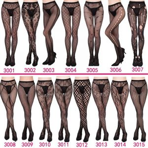 Women's Sexy Fishnet Tights, Jacquard Weave Pantyhose, Yarns Garter Grid Stockings