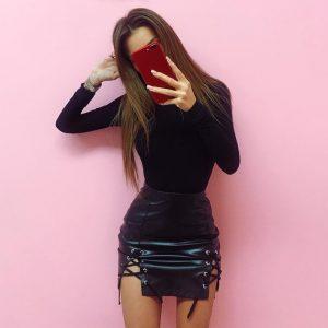Cotton Long Sleeve High Neck Skinny Bodysuit, Women's Solid Sexy Bodysuit, New Fashion Bodycon