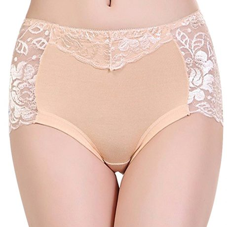 Women's Cotton Underwear, Seamless Briefs, Sexy Panties, Full Transparent Lace 5
