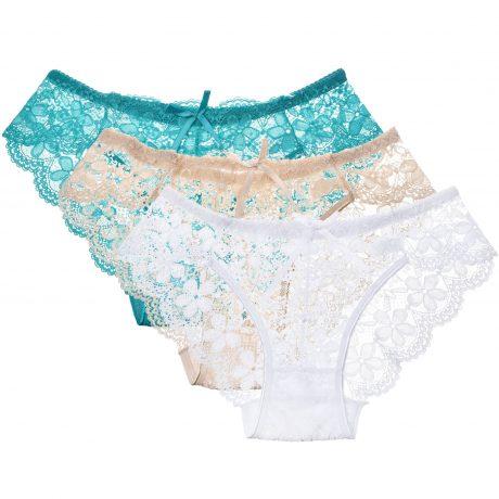 3 Pcs Hot Sale Sexy Lace Seamless Panties Underwear Women Breathable Pantie Hollow Transparent Panties 2