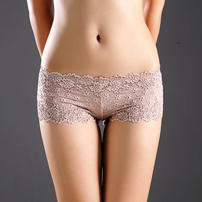 Women's Sexy Full Lace Panties,Transparent Floral, Bow Soft Briefs, Sexy Lingerie