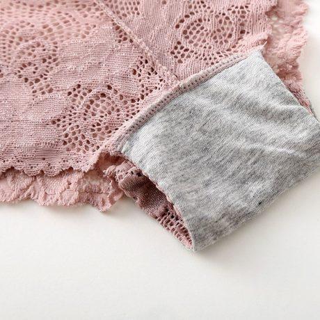 3pcs/lot, Sexy Lace Panties, Women's Fashion Cozy Lingerie, Tempting Pretty Briefs, Cotton Low Waist, Cute Women Underwear 4