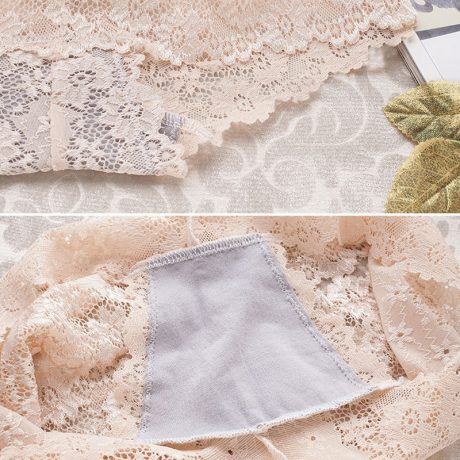 Women's Sexy Full Lace Panties,Transparent Floral, Bow Soft Briefs, Sexy Lingerie 5