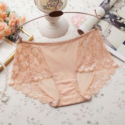 Women's Underwear, Sexy Lace Panties, Hollow Out Briefs, Mid Rise, Female Lingerie Underpants