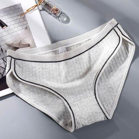 Women's Underwear, Cotton Low-Rise Panties, Briefs Female Striped Lingerie 3